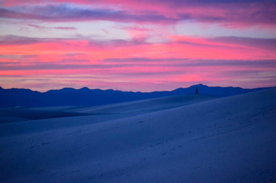 Pink and Purple Sunset at White Sands