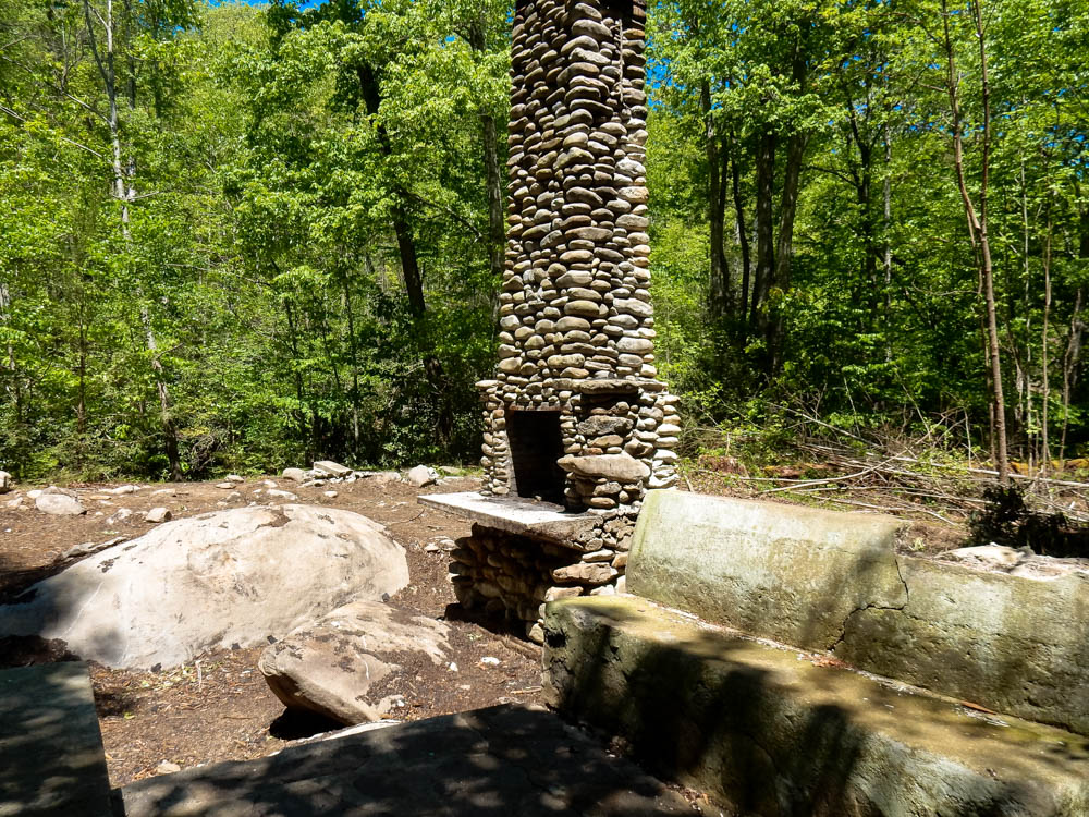 Remains of a cabin near Little River & Daisy Town