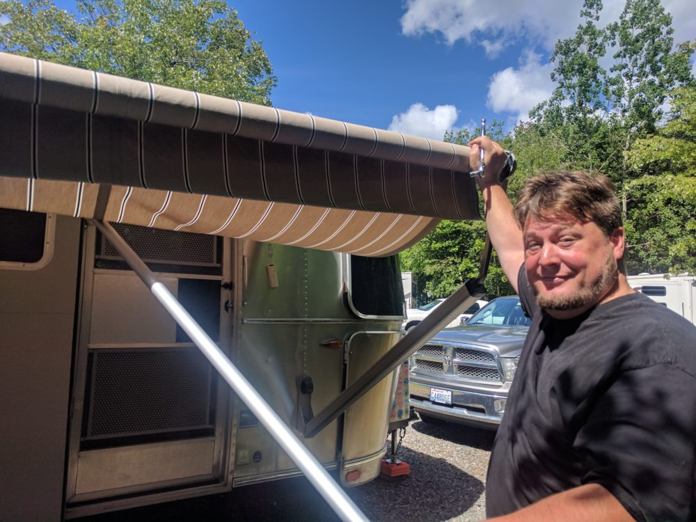 Airstream Zip Dee Awning Repair - The Adventures of Trail ...