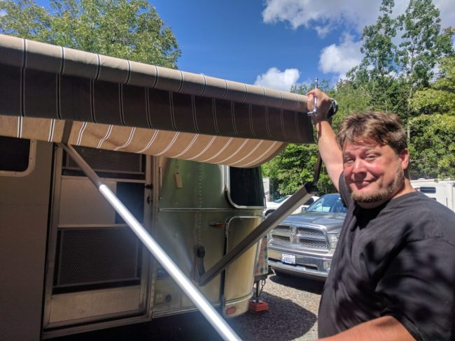 Airstream Zip Dee Awning Repair - The Adventures of Trail