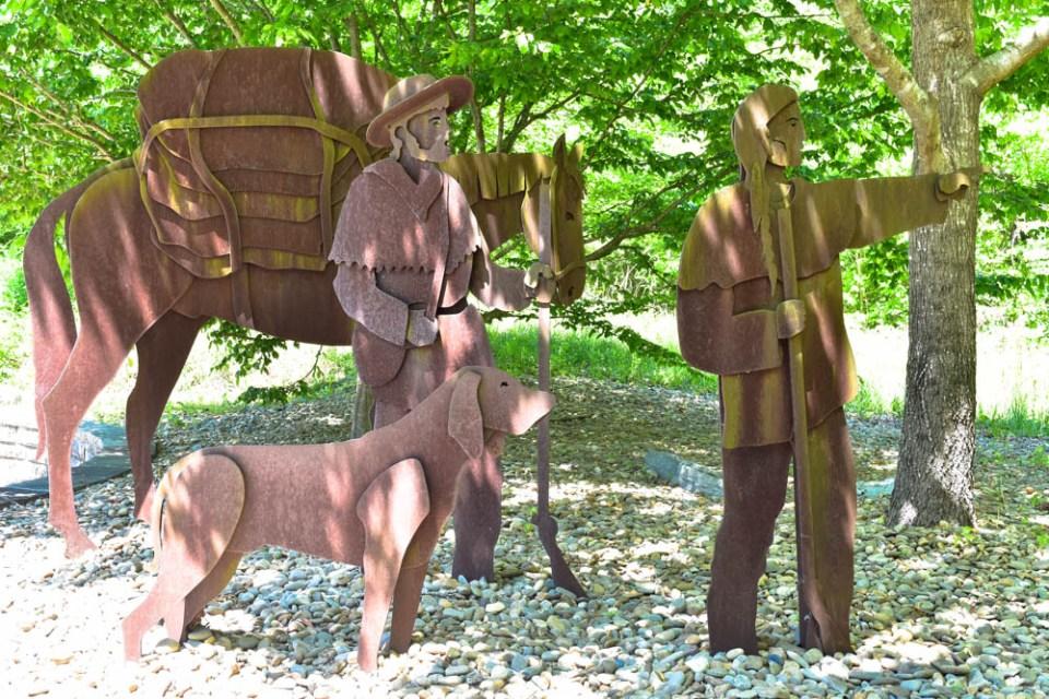 Daniel Boone Art - Near Information Center, Wilderness Road Trail head