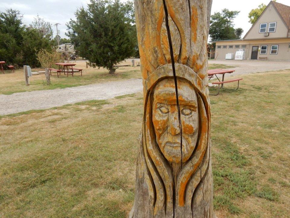 Goodland KOA - Stump Art