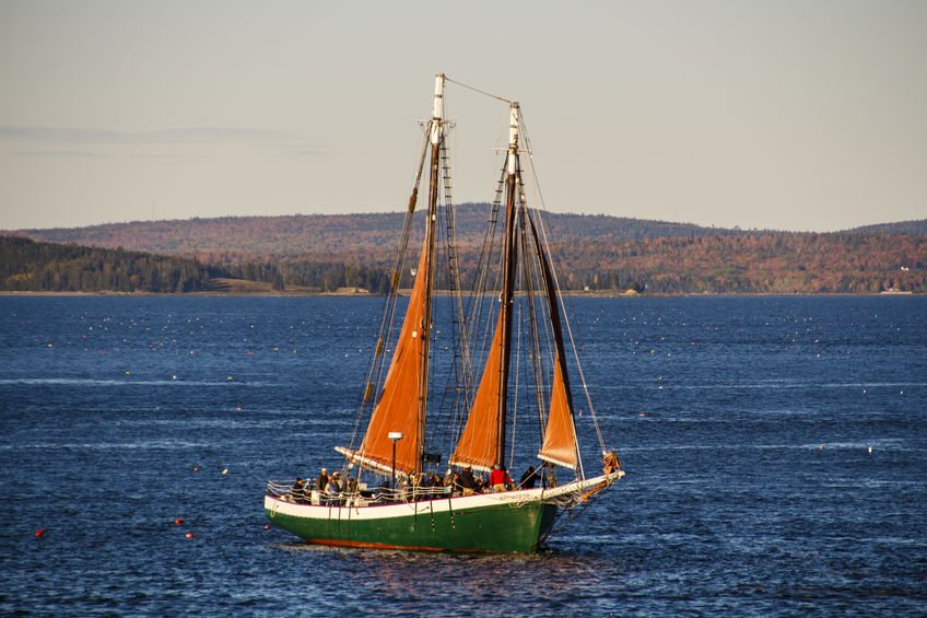 See many cute boats like this from Bar Harbor Island