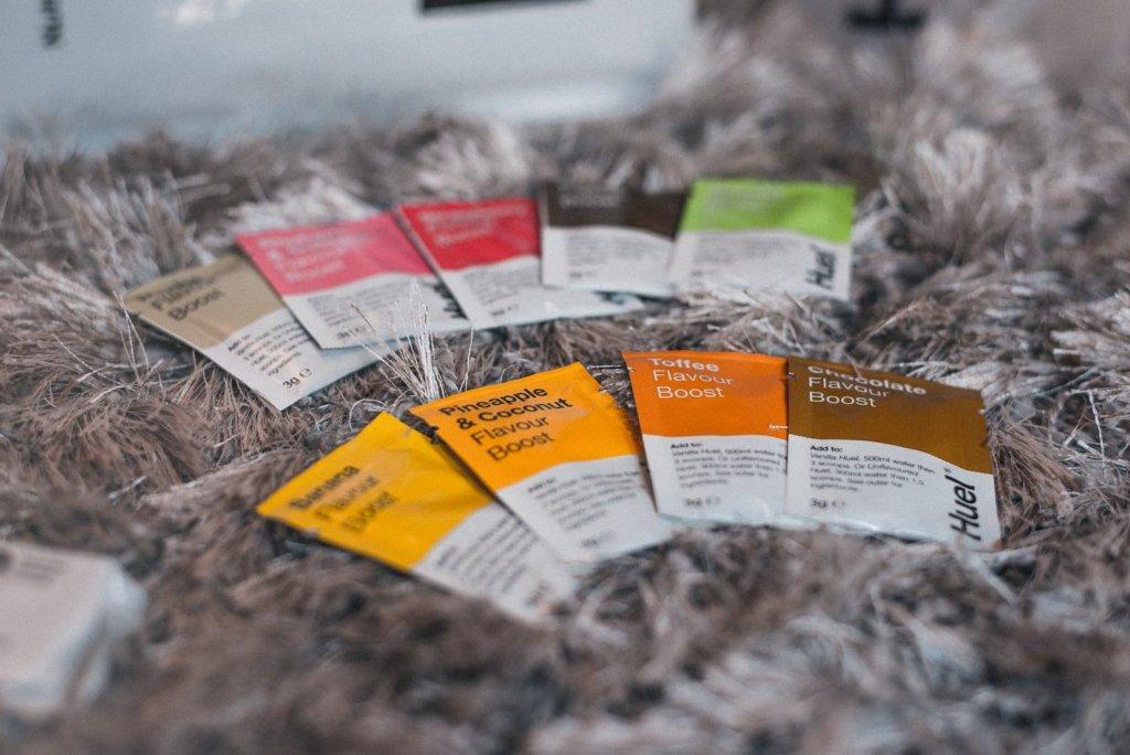 Huel Review - Trail & Kale - Flavour boost sachets