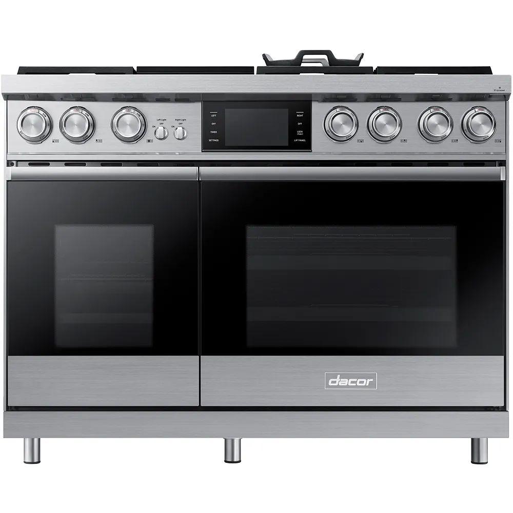 dacor 48 inch double oven dual fuel range
