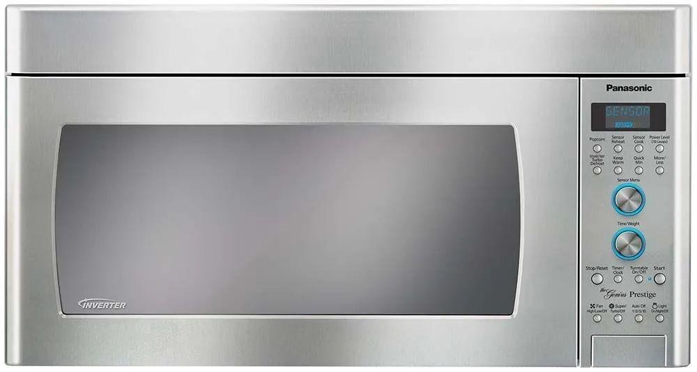 panasonic 2 0 cu ft 450 cfm over the range microwave