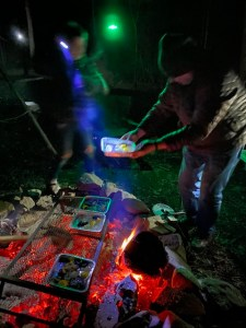 photo of cooking at a campsite