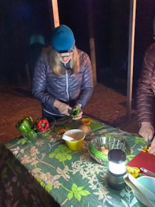 campers cooking