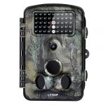 LESHP Game and Trail Camera 12MP 1080P HD With Time Lapse 65ft 120° Wide Angle Infrared Night Vision 42pcs IR LEDs Waterproof IP66 2.4″ LCD Screen Scouting Camera Deer Camera Digital Surveillance
