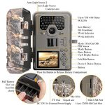 TEC.BEAN Trail Camera 12MP 1080P Full HD Game & Hunting Camera with 36pcs 940nm IR LEDs Night Vision up to 75ft/23m IP66 Waterproof 0.6s Trigger Speed for Wildlife Observation and Home Security