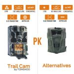 "TOMSHOO Trail Camera 16MP 1080P Wildlife Hunting Camera with Motion Activated Night Vision 20m,0.2s Trigger Speed,2.4""LCD Screen and 130° Wide Angle Lens,IP55 Waterproof Design for Wildlife Hunting"