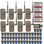 Cuddeback CuddeLink J Series Long Range IR 20MP Trail Camera (8-Pack)   with 16 SD Cards and 2 Full Sets of Batteries Bundle
