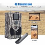 Boly 4G Wireless Hunting Camera with Molnus Cloud Service, 24MP 1080p HD Lighting Fast Transfer Speed Game Camera, Support for Solar and External Power, LCD Display Waterproof(North America only)