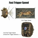 HOLLYWTOP Mini Trail Game Camera 20MP 1080P Waterproof 0.4s Trigger Speed Hunting Cams with Night Vision Motion Activated for Wildlife Monitoring and Home Security (1 Pack)
