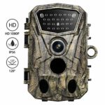 Trail Game Camera with Night Vision, Motion Activated, 0.5S Trigger Speed, 18MP IP66 Waterproof and 130° Detection Hunting Camera Trap 1080P HD for Outdoor Wildlife Monitoring