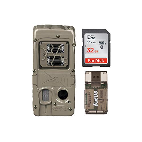 Cuddeback G-Series Double Barrel 20MP Trail Camera with Memory Card and Reader Bundle (3 Items)