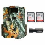 Browning Strike Force HD Pro X (2019) Trail Game Camera Bundle Includes 2 x 32GB Memory Card and J-TECH Card Reader (20MP)   BTC5HDPX