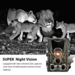 YANLE Hunting Camera, Wild Trail Cameras, Trail with Night Vision Infrared, Fit for Outdoor Wildlife Garden Animal Scouting and Home Security Surveillance
