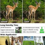 Game Trail Camera,2018 New Hunting Camera 1080P 12MP with 2.4in LCD Screen No Glow Black Infrared Night Vision 0.5s Trigger Speed IP66 Waterproof for Wildlife Hunting Monitoring and Farm Security
