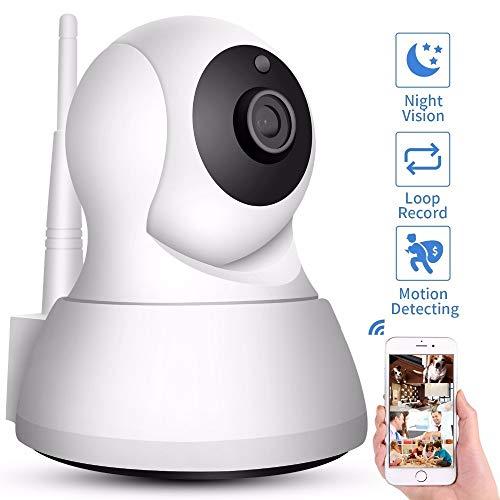 Home Security IP Camera Wi-Fi 1080P 720P Wireless Network Camera CCTV Camera Surveillance P2P Night Vision Baby Monitor (Plug Type : UK Plug, Sensor Size : 720P Add 16G Card)