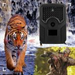 SOONHUA Waterproof Trail Camera, Outdoor Waterproof 1080P 12MP Hunting Trail Camera Wildelife Infrared Photo Trap Camcorder