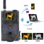 Trail Camera, 12MP HD 1080P Game Camera, Waterproof Wildlife Hunting Camera, with IR Night Vision, No Glow LEDs, Video Cam for Outdoor Wildlife Monitoring, Home Security