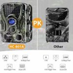 """Trail Game Camera 16MP 1080P Waterproof Hunting Scouting Cam for Wildlife Monitoring with 120°Detecting Range Motion Activated Night Vision 2.4"""" LCD IR LEDs"""