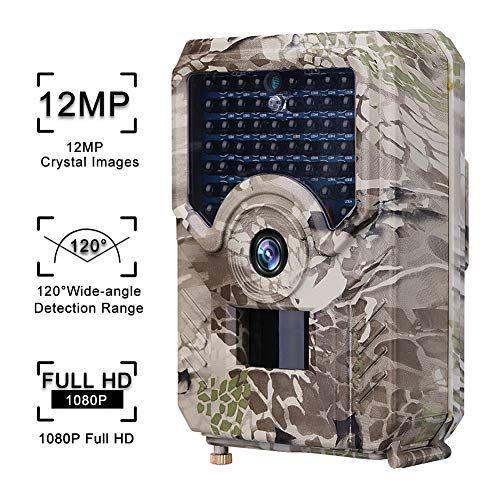 Fugarp Hunting Camera, 12MP 1080P HD Hunting Trail Camera Outdoor Video Scouting Cam with Infrared Night Vision for Wildlife Monitoring