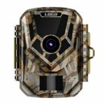 FUZHEN Trail Camera,1080P HD Game Hunting Scouting Cam with 3 Infrared Sensors,120°Detecting Range Motion Activated Night Vision for Wildlife Watching
