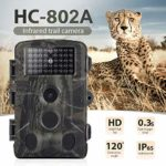 Huaze 16MP 1080P Wildlife Trail Camera Photo Trap Infrared Hunting Cameras Wildlife Wireless Surveillance Tracking Cams for Wildlife Monitoring and Home Security