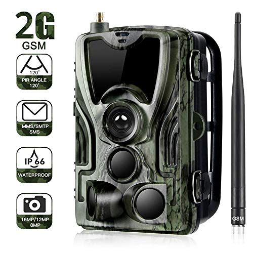 KTYX Game Camera 16MP1080P Full HD with Night Vision Motion Activated Waterproof Wildlife Trap Camera No Glow Infrared with for Hunting and Wildlife Watching Hunting Camera