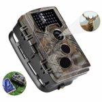 QARYYQ Hunting Camera 16MP 1080P32G Memory Card HD Solar Wildlife Trail Game Camera 120° Wide Angle Night Vision 0.2s Trigger Speed 65 Ft Trigger Distance Wild Animal Camera