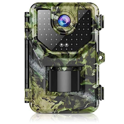 "Trail Camera, Hunting Camera with 120°Wide-Angle Motion Latest Sensor View 0.2s Trigger Time 1080P 16MP Trail Game Camera with 940nm No Glow and IP66 Waterproof 2.4"" LCD 48pcs for Wildlife Monitoring"