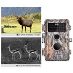 5-Pack Game Deer Trail Cameras 20MP Photo 1920x1080P Full HD H.264 MP4 Video Hunting Wildlife Cams Time Lapse Night Vision No Glow Motion Activated Waterproof Password Protected 0.5S Trigger 2.4″ LCD