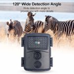 AODIAN Wildlife Cameras 12MP 1080P HD Trail Game Motion Activated Infrared Night Vision Waterproof Scouting Hunting Cam with 60° Wide Angle Lens for Outdoor and Home Safety