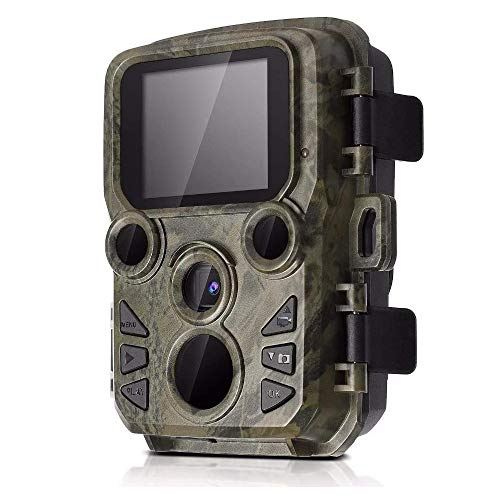 Generic002 Trail Game Camera, 1080P Mini Waterproof Hunting Camera with Night Vision Motion Activated, for Outdoor Wildlife Monitoring and Home Security Surveillance