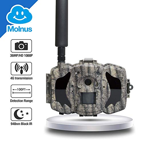 Boly 4G Wireless Hunting Camera with Cloud Service, 36MP 1080p HD Lighting Fast Transfer Speed Game Camera, Support for Solar, 2.3″ LCD Display Waterproof(North America ATT T-moblie only)
