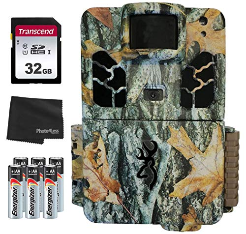 Browning Dark Ops Pro X 20MP Trail Camera BTC 6HDPX + 32GB SD Card + 8 AA Batteries and Lens Cleaning Cloth