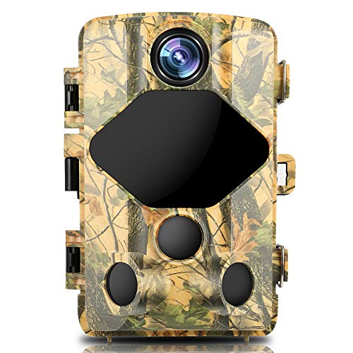 "BZK Trail Game Camera- Waterproof Hunting Scouting Cam 16MP 1080P with Night Vision, 120° Wide Angle Lens and 2.4"" LCD IR LEDs for Wildlife Watching"