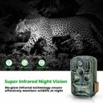 BZK WiFi Trail Game Camera- 24MP 1080P Waterproof Hunting Game Camera with Remote Control and Night Vision Motion Activated for Outdoor Scouting and Wildlife Monitoring