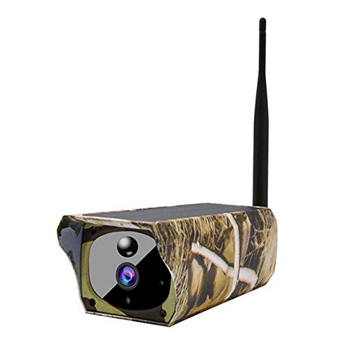 Facibom Solar Powered 1080P Trail Game Camera, Ip65 Waterproof WiFi Hunting Camera 850Nm Infrared Night-Vision Motion Activated Sensor Wildlife Camera