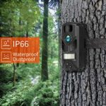 OUTDOOR EXPERT Trail Camera 12MP 720P Mini Hunting Camera with 850nm IR LEDs, Activated Night Vision, 60ft PIR Distance, 80ft IR Illumination Digital Game Cam for Wildlife Scouting and Home Security