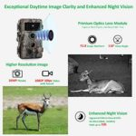 Zopu Trail Game Camera 20MP 1080P, No Glow Night Vision 65ft, 0.2s Motion Activated, Waterproof Wildlife Cam for Nature Field Deer Scouting & Hunting, Indoor & Outdoor Security