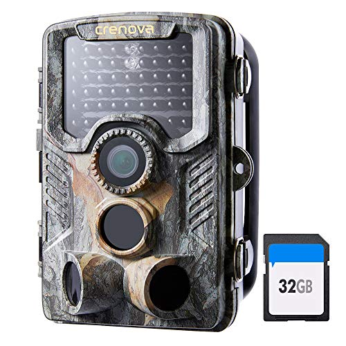 Crenova 20MP Wildlife Trail Camera with 32GB Card Included Game Camera
