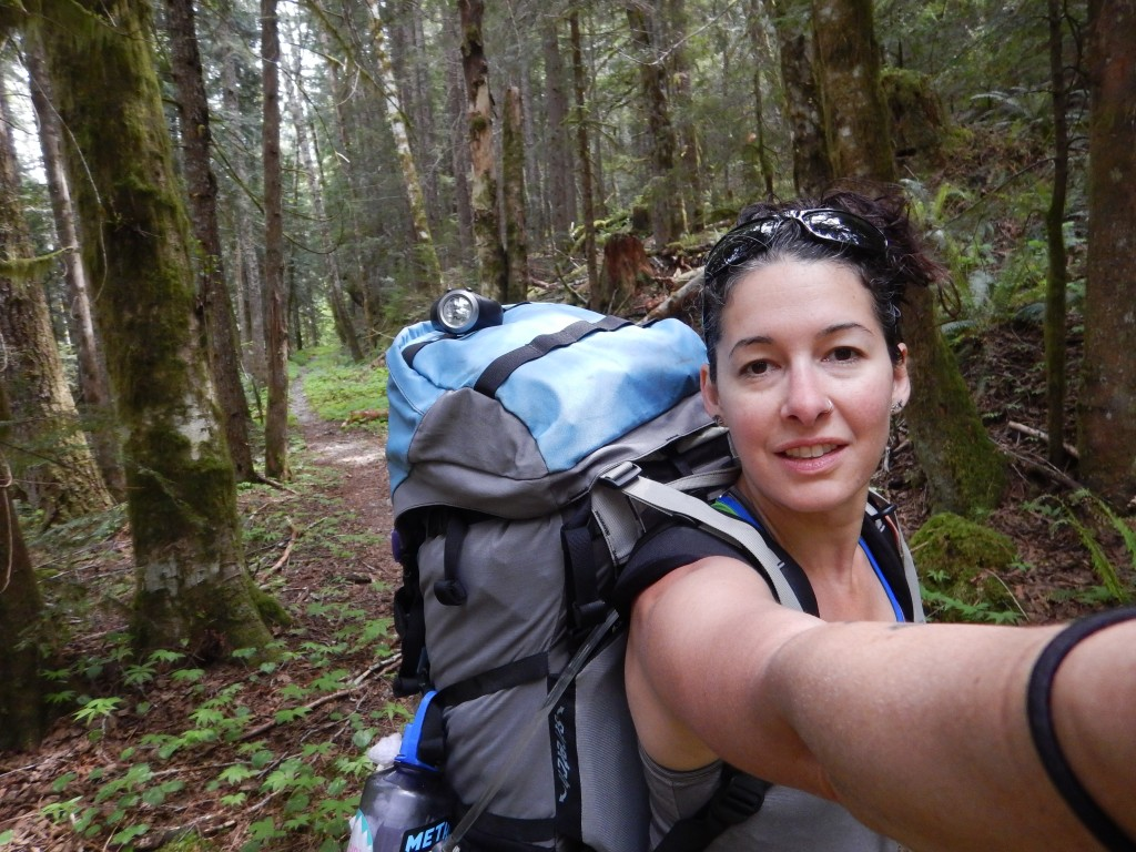 """Looking a little tired after a """"beary"""" exciting Saturday night. Backpacking is tough!"""
