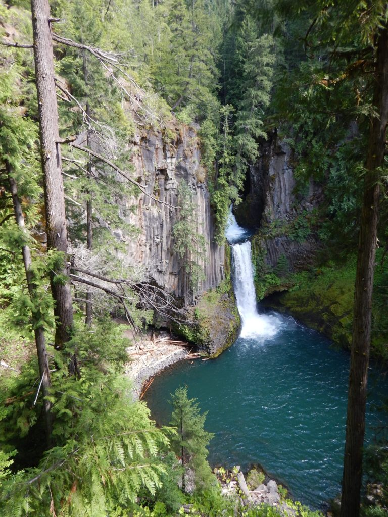 Tokenee Falls. Picturesque with it's basalt columns but not nearly as accessible as pictures lead you to believe.