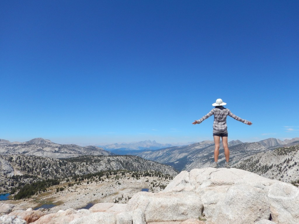 The top of Silver Pass!