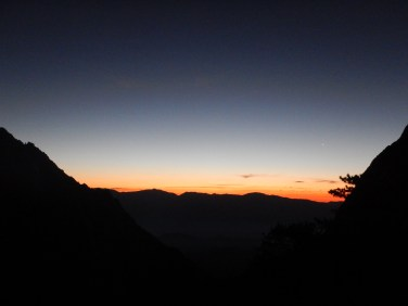 Gorgeous trail sunrise