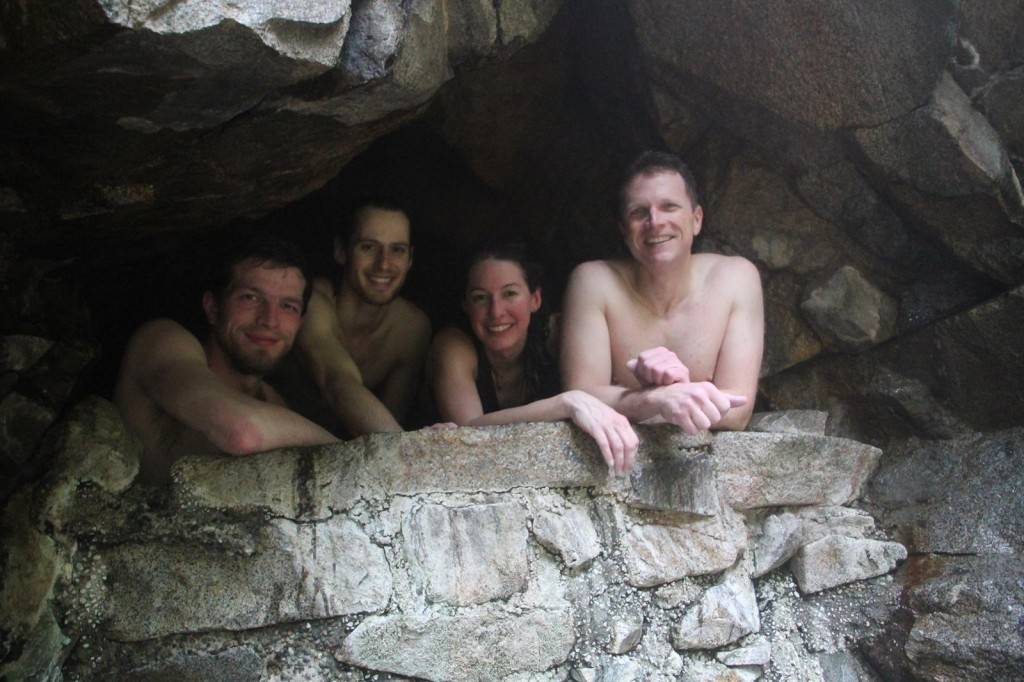 Enjoying the hot springs sure is a grand reward!