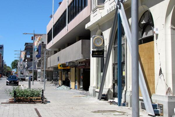 Damage in Christchurch